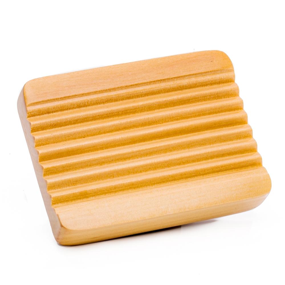 Holz Seifenschale eckig aus Kiefer
