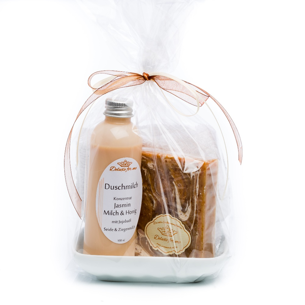 Geschenkeset Jasmin – Milch & Honig 4-tlg.