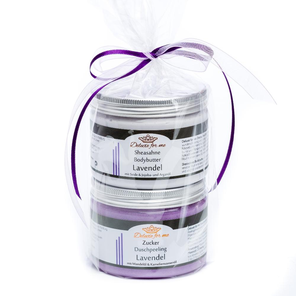 Geschenkeset Lavendel (Bodybutter / Zucker)